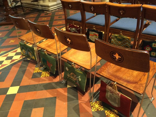 Chairs and kneelers in the cathedral