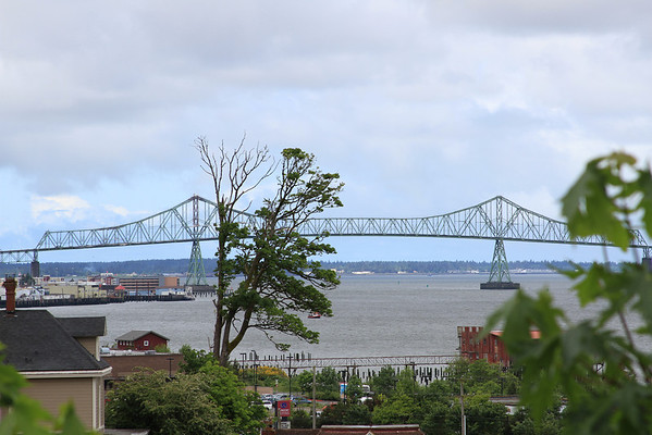 Viewing the Astoria Bridge from up on the hill near the Goonies house.
