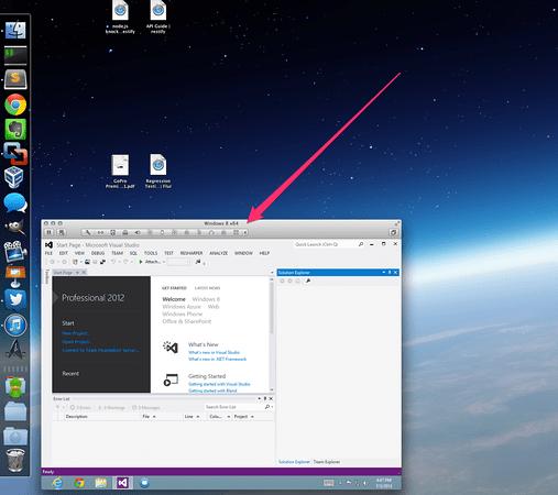 Windows 8 via VMware Fusion on OS-X. (Click for full size)