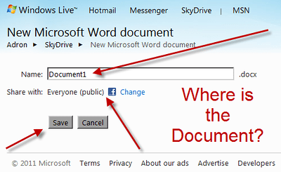 Windows Live Skydrive Microsoft Word Document