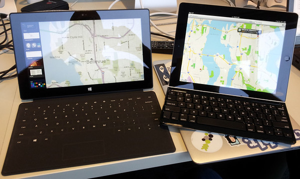 Surface & iPad Side by Side (Click for high rez image)