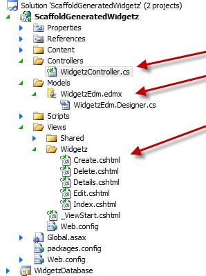 The Scaffolding in ASP.NET MVC 3