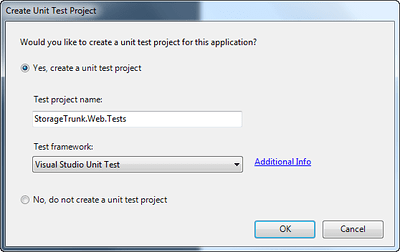Create Unit Test Project