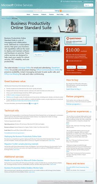 Business Productivity Online Standard Suite (BPOSS??)
