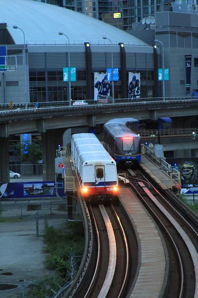 Translink Skytrains Passing...