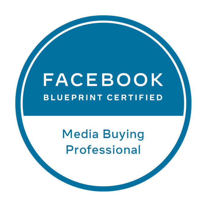 Badge Facebook Blueprint - Media Buying Professional