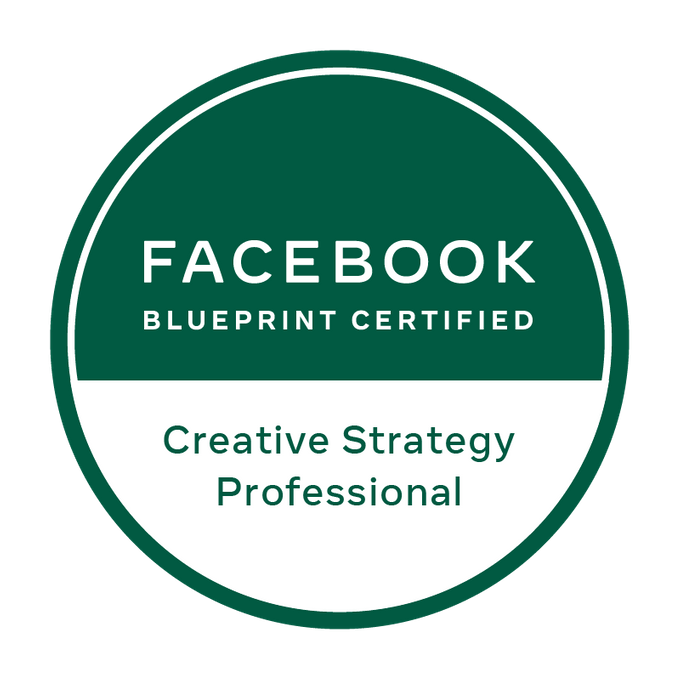 Badge Facebook Blueprint - Creative Strategy Professional