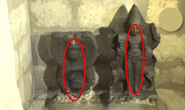 நீர் சுரக்கும் பிள்ளையார் ஆலய விக்கிரகங்கள் ; ஆலத்தில் குவியும் பொதுமக்கள் - யாழில் பரபரப்பு 1