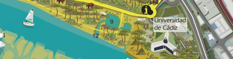 mapa-guía de un parque metropolitano