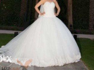 فستان زفاف دانتيل هاي كواليتي