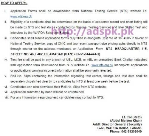NTS Latest Career Jobs Water & Power Development Authority (WAPDA) Security Wing Jobs Written Test Syllabus Paper-2