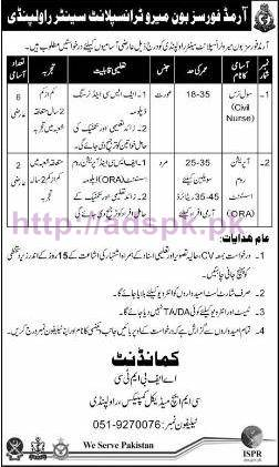 New Career Excellent Jobs Armed Forces Bone Marrow Transplant Centre Rawalpindi Jobs for Civil Nurse and Operation Room Assistant Application Deadline 22-10-2016 Apply Now