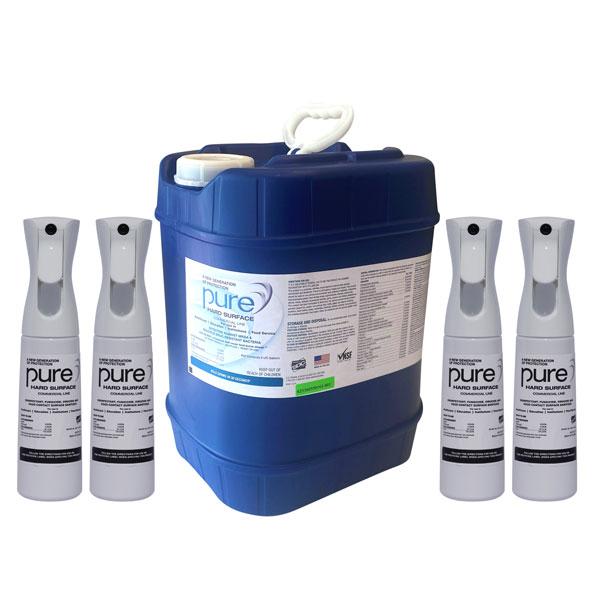 PURE Hard Surface Disinfectant 5-gallon+4-Spray Kill Coronavirus