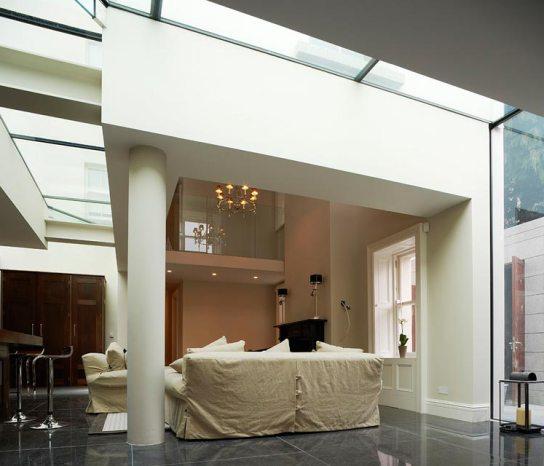 Ailesbury House External Glass Floor / Ceiling