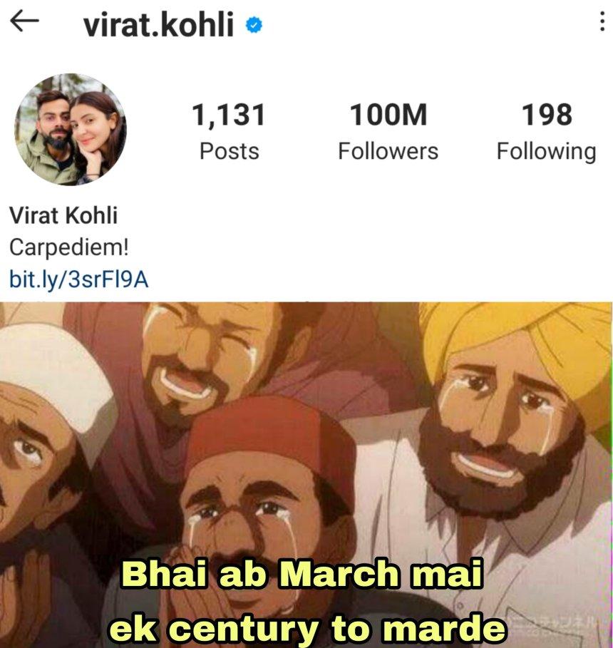 virat kohli 100 million memes