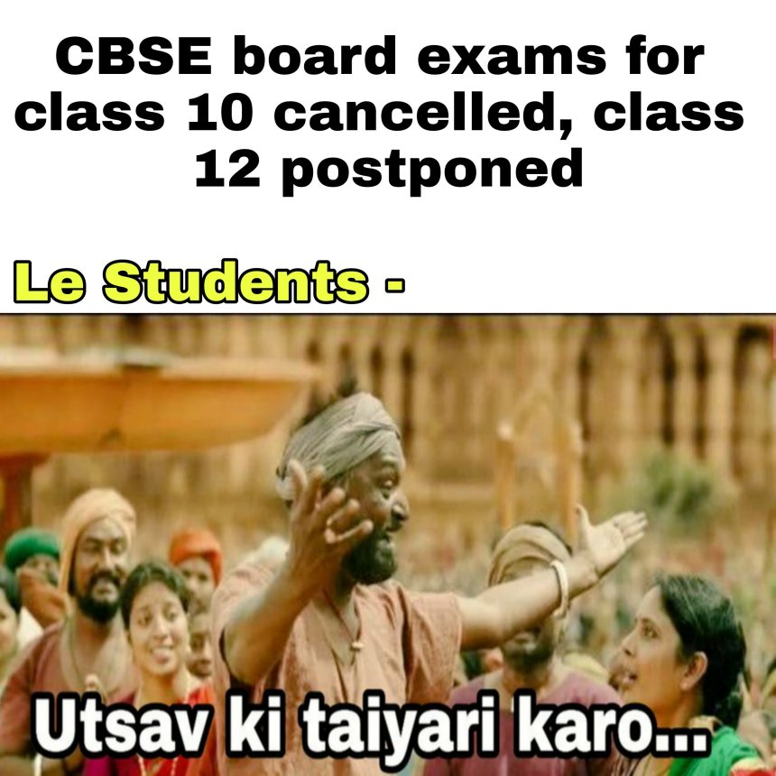 CBSE students memes 2021