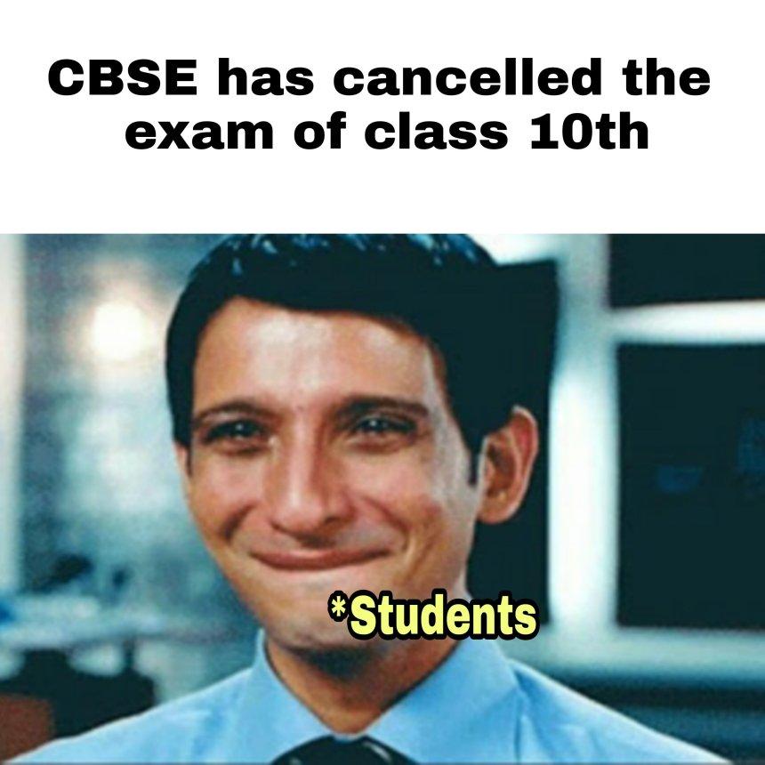 CBSE class 10th student memes