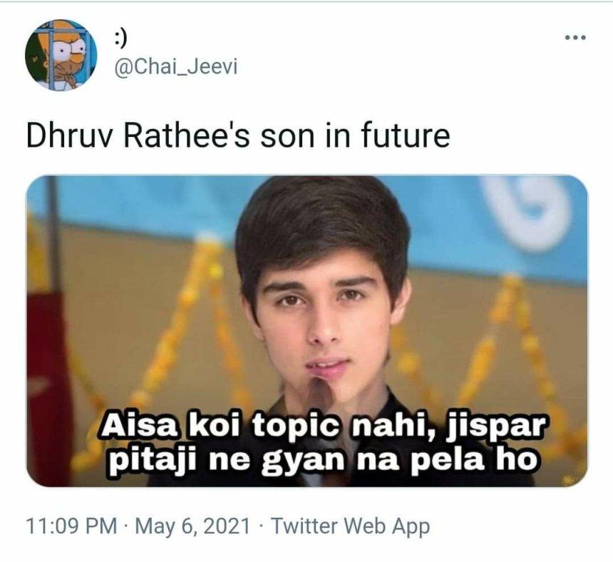 aisa koi kaam nahi meme on Dhruv Rathee