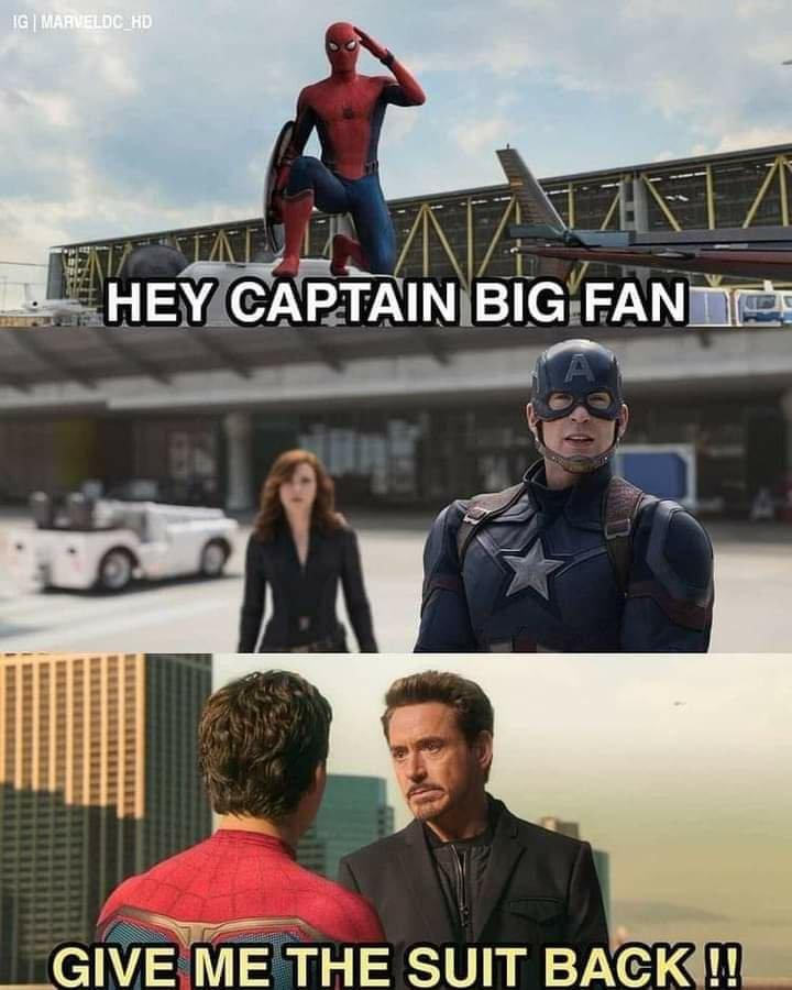 Iron Man and Spiderman memes