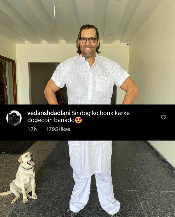 funny comment on Instagram post, Khali memes
