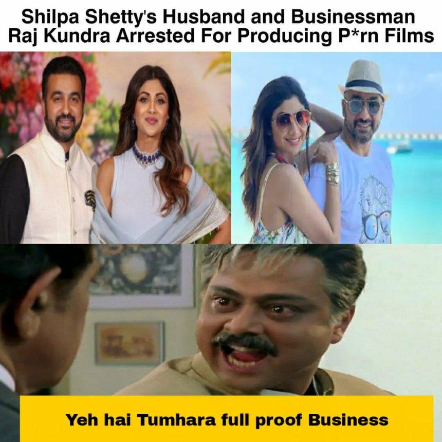 Shilpa Shetty and Raj Kundra memes