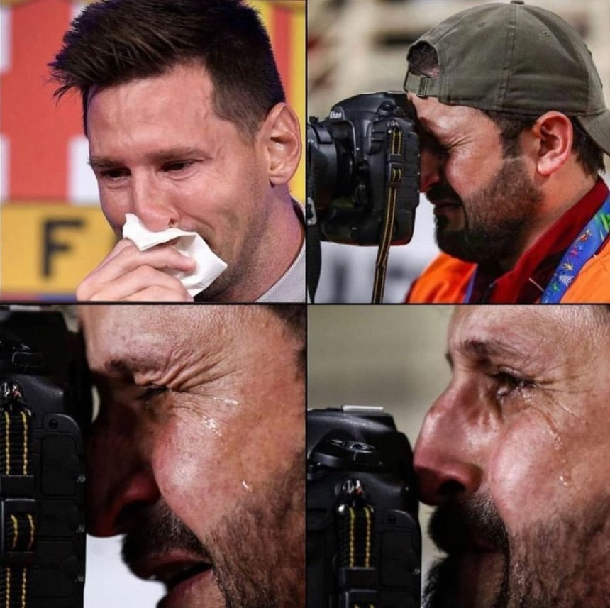Crying Lionel Messi meme