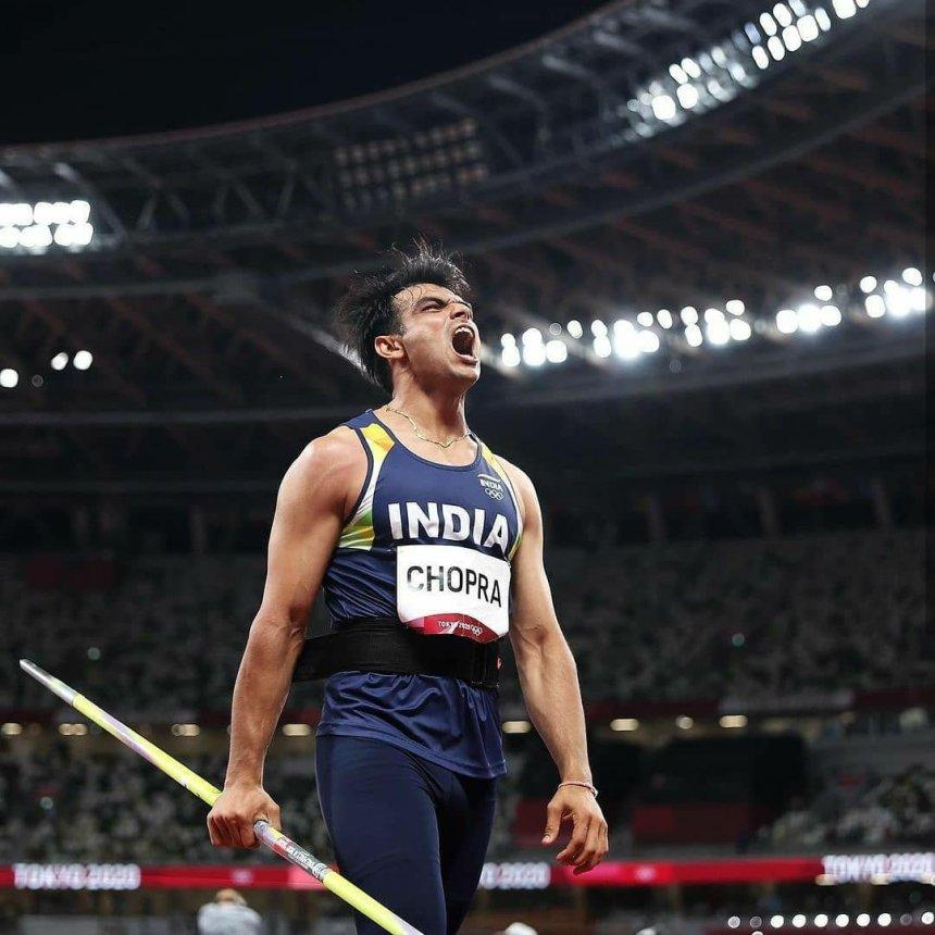 Neeraj Chopra in Tokyo Olympic
