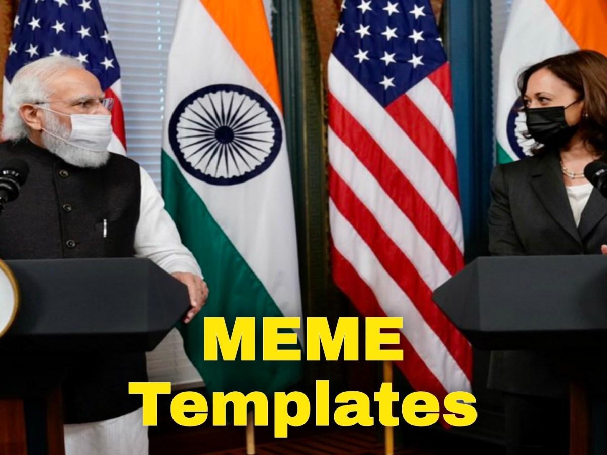 Kamala Harris and PM Modi meme templates
