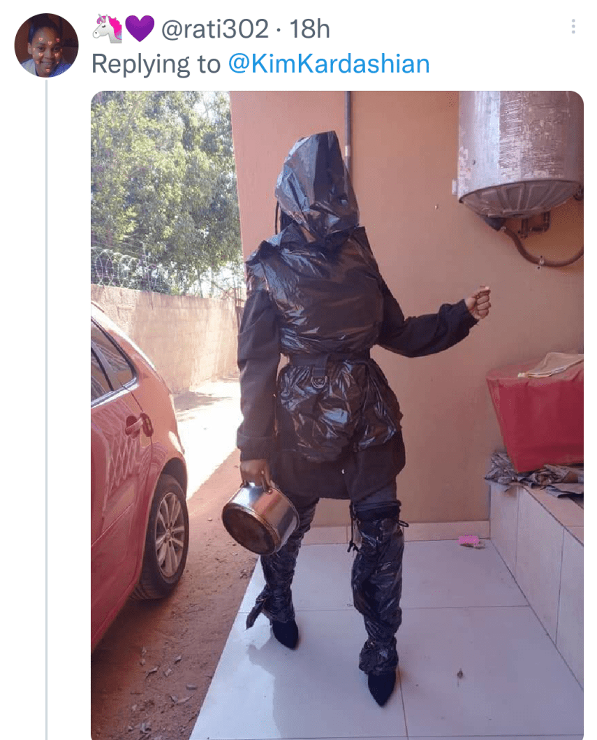 People comparing Kim Kardashian with Dustbin bags on twitter