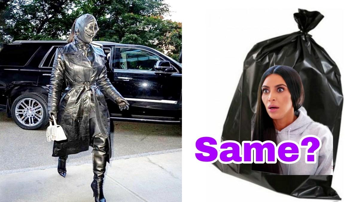 full face covered outfit Kim Kardashian memes