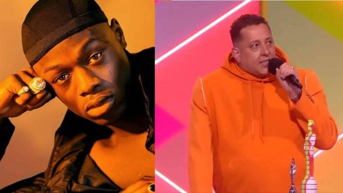"""J Hus foi eleito o """"Melhor Artista Solo Masculino"""". O DJ Semtex recebeu o prêmio em nome do rapper (Reprodução/Internet)"""