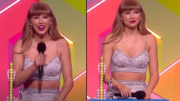 """Taylor Swift recebe prêmio de """"Ícone Global"""" (Reprodução/Internet)"""