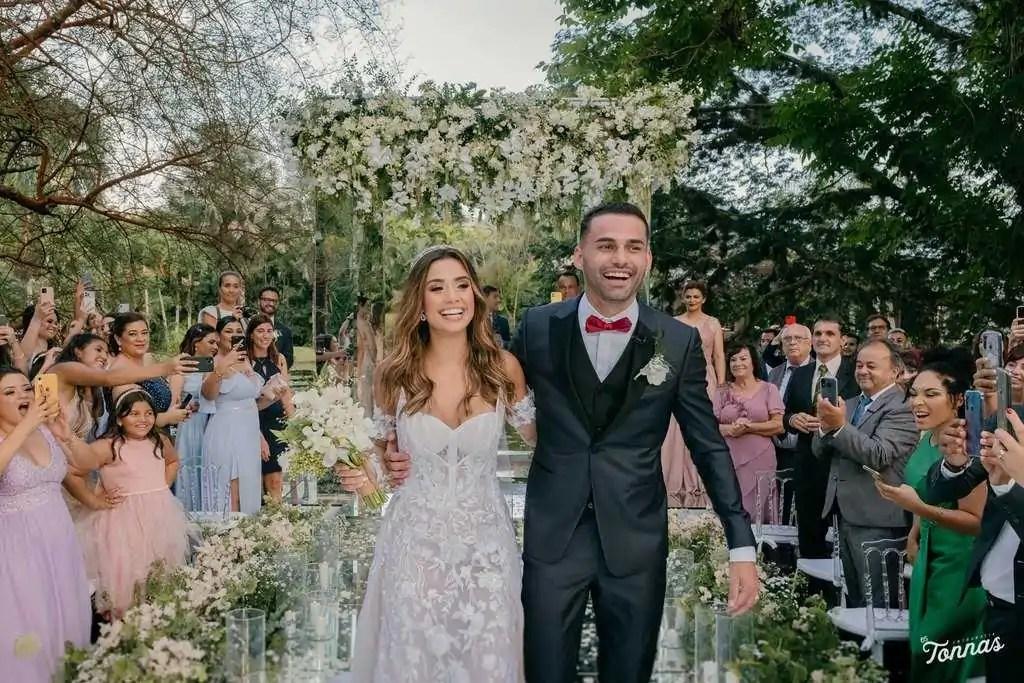 casamento ao ar livre isadora pompeo thiago maia saida noivos