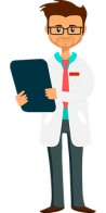 Adult ADHD Unplugged cartoon of doctor holding clipboard