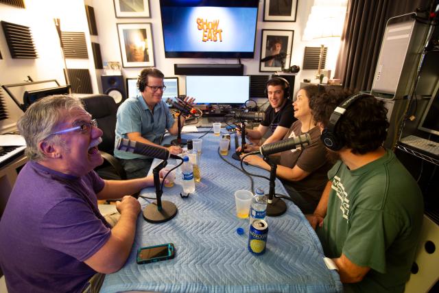 Adult Beverage Podcast crew filming Oldboy.