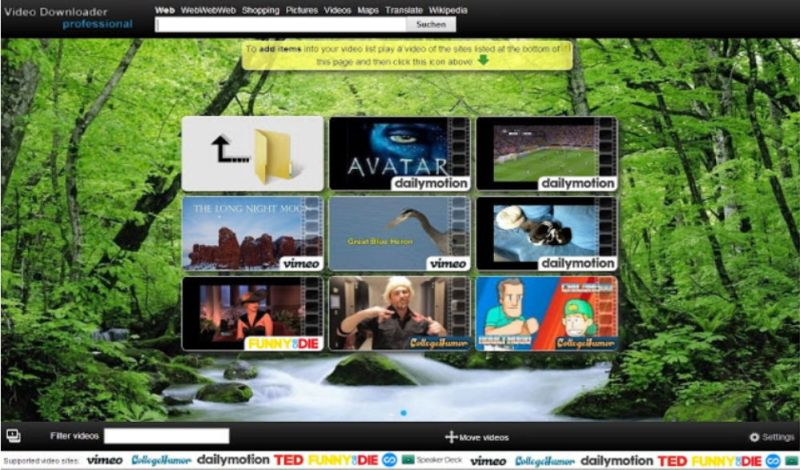 Video Downloader Professional Layout