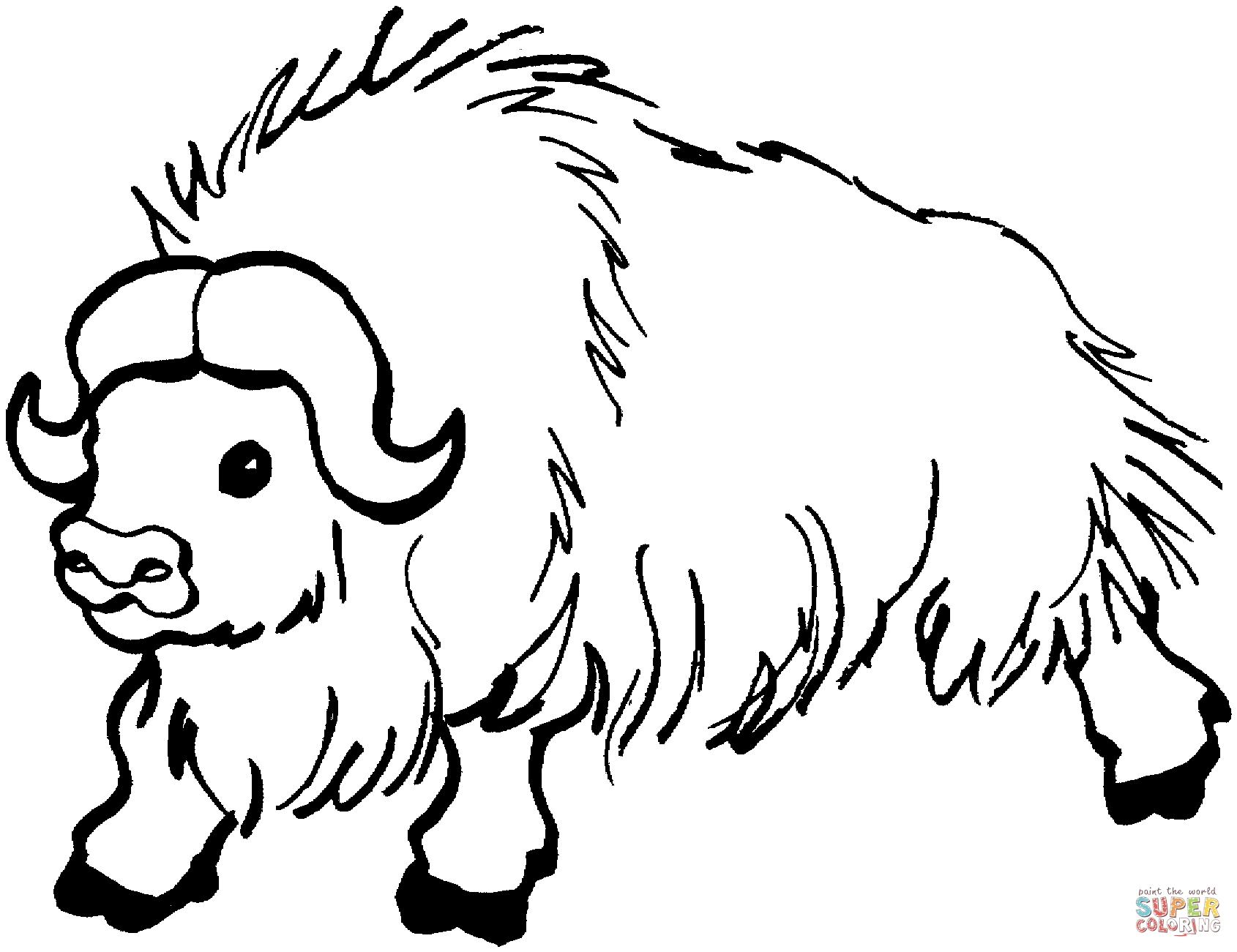Buffalo Coloring Page Free Coloring Pages Download | Xsibe moose ...