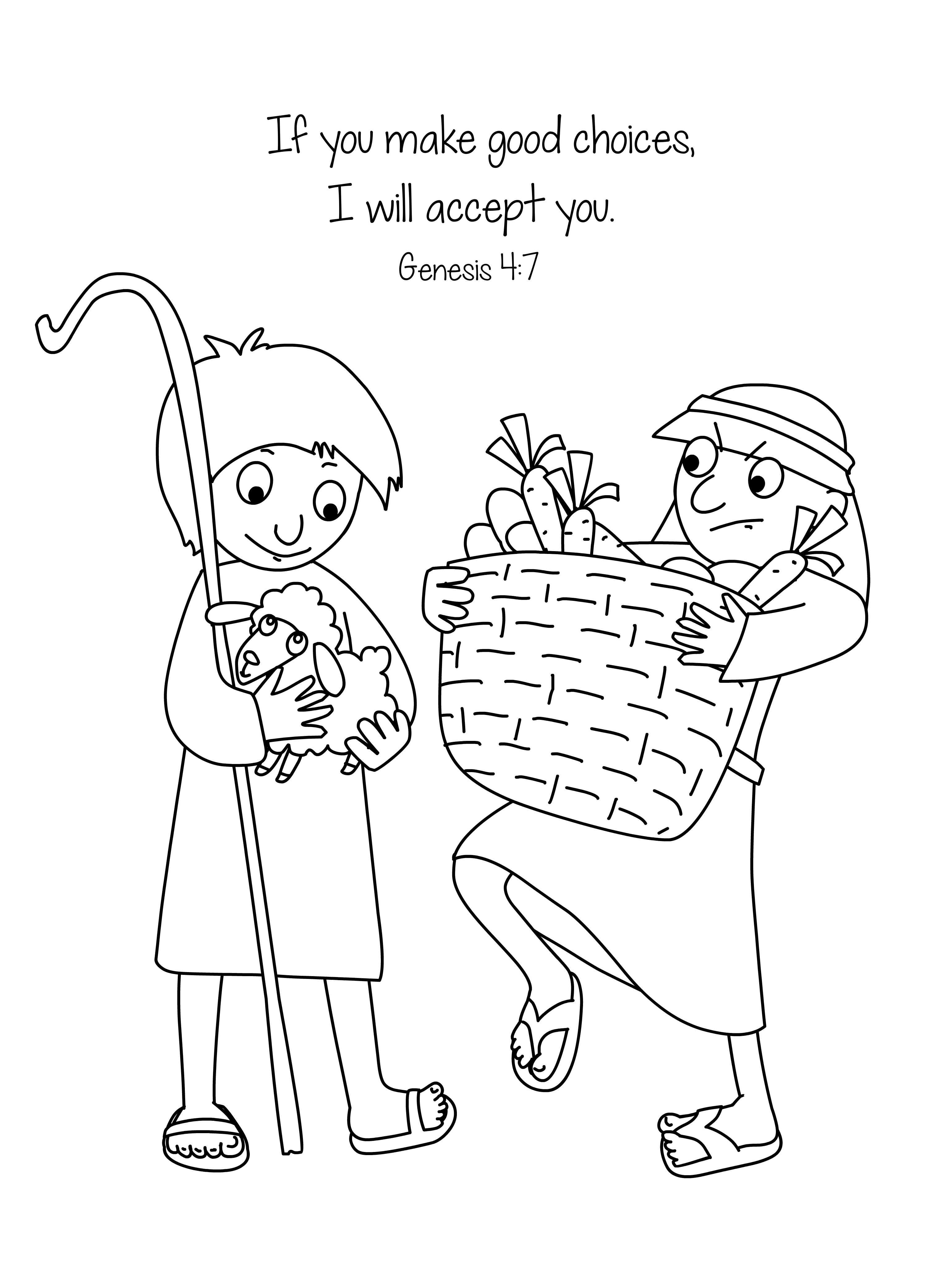 20 Cain And Abel Coloring Page Printable