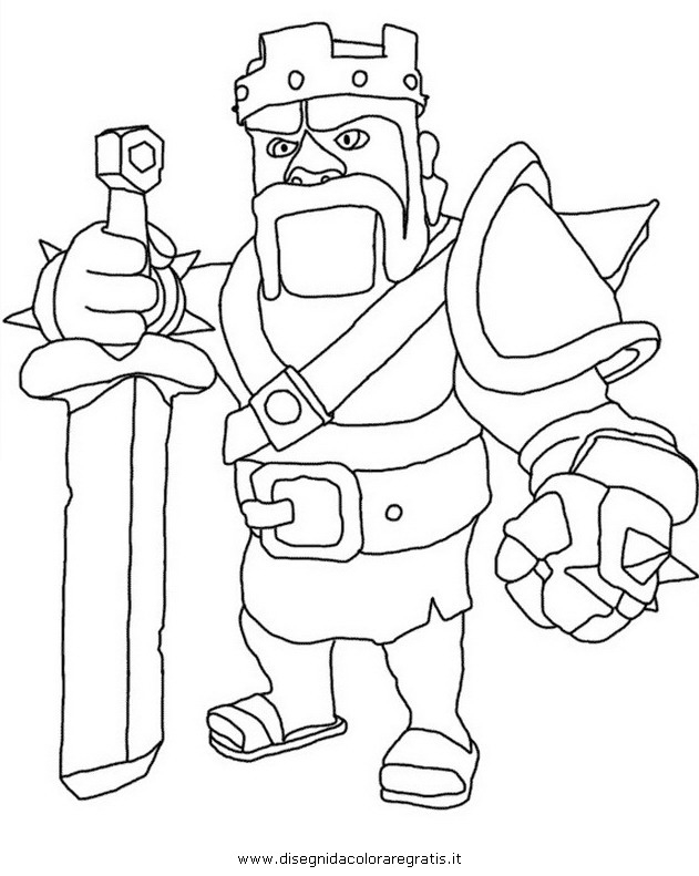 clash of clans barbarian coloring pages sketch coloring page