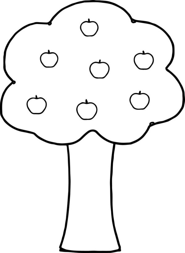 apple tree coloring pages # 76