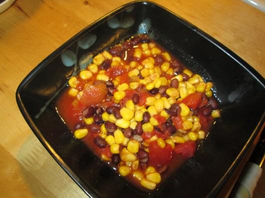 Almost Instant Black Bean Soup, ungarnished