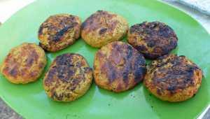 Grilled Falafel Burgers