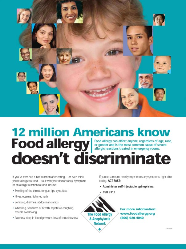 Poster from FARE - Food Allergy Research & Education