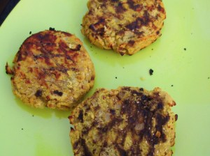 Lentil Burgers with Authentic Grill Marks