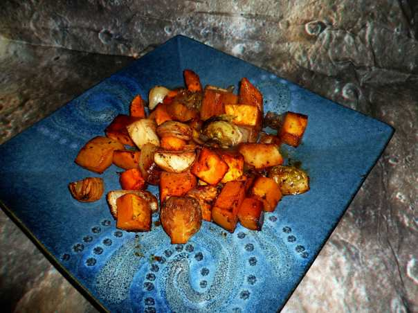 Roasted Autumn Vegetables with Balsamic Glaze