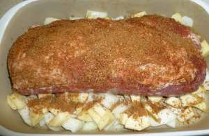 Pork loin with rub