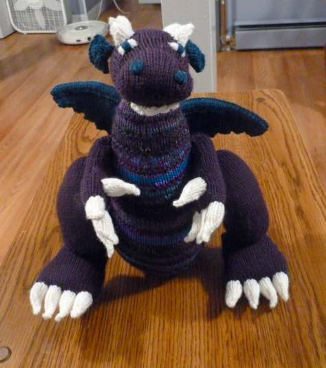 Denise's knitted dragon project hosts the blog this week.