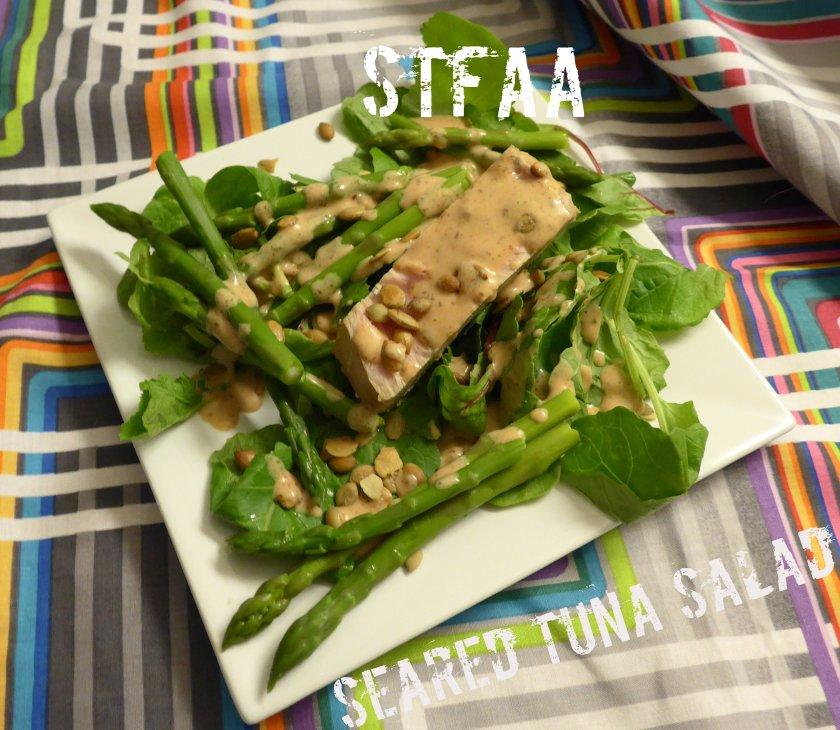 Seared Tuna Steak Salad