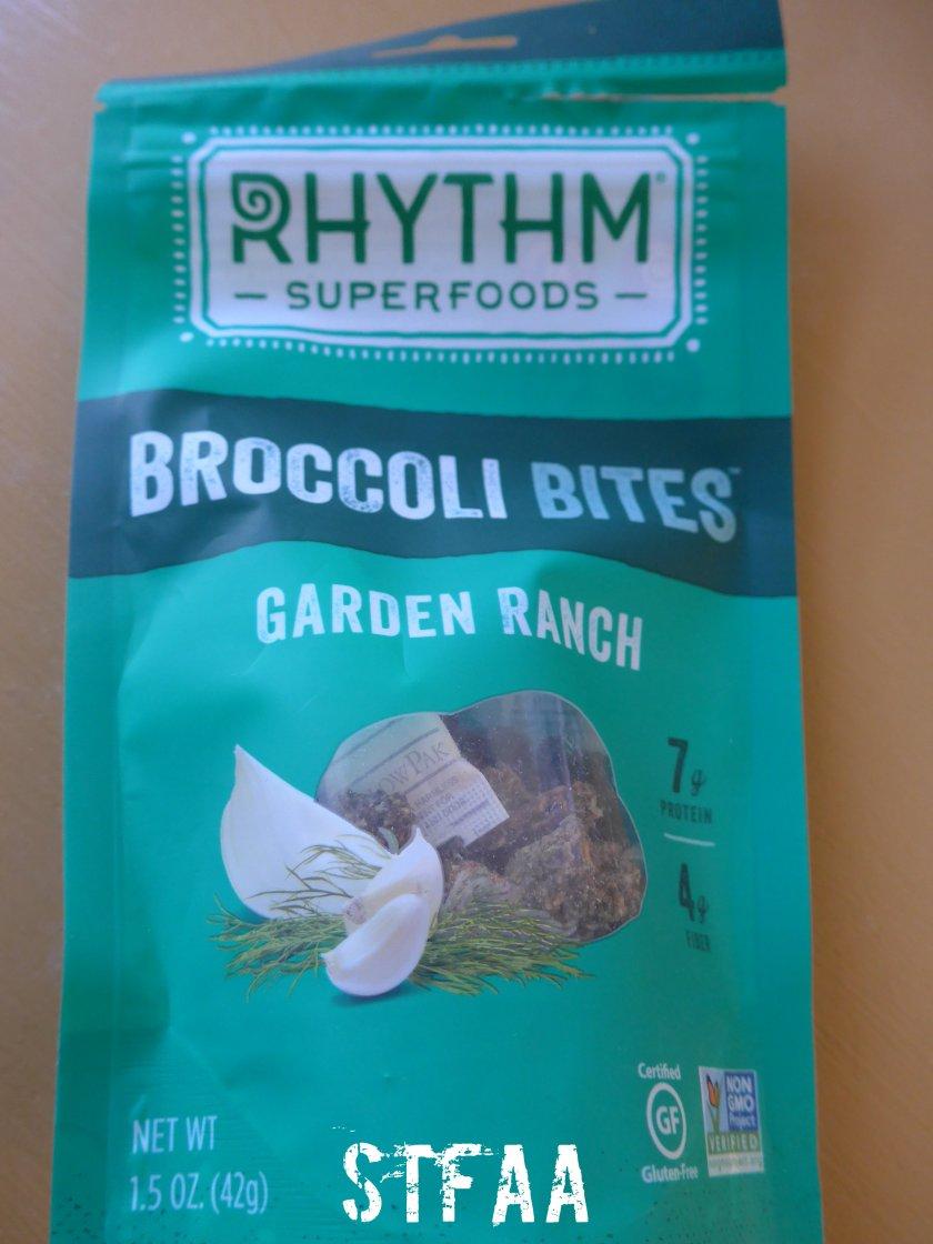 Rhythm Superfoods Broccoli Bites in Garden Ranch