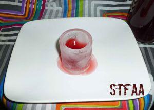 Atomic Fireball Liqueur in a melting ice shot glass
